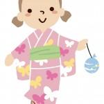 浴衣ドレスって何歳まで着れる?子供用の生地は何が最適?パニエでもっと可愛く♪